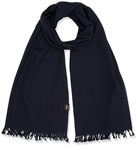 BOSS Heren Netails sjaal, blauw (Dark Blue 404), One Size (fabrikant: STUK)