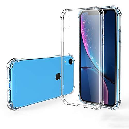 Hually Funda para iPhone XR, Carcasa Transparente ultradelgada para iPhone XR con Protector Flexible a Prueba de Golpes y Respaldo rígido para PC (Crystal Clear)
