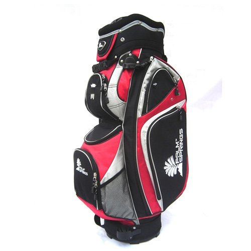 Palm Springs Golf Red/Silver 14 Way Full Length Divider Cart Bag [Misc.]