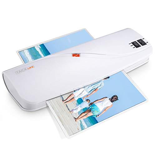 "Laminator, 2 Roller System 9"" Wide Thermal Laminator with Hot & Cold Laminating, ABS Button, 3 Min Faster Warm-up, 10 Laminator Pouches for Office/School/Home - New Version MTL01"