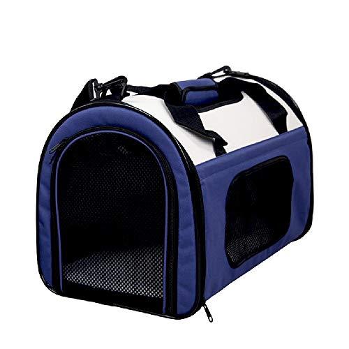 GJHYJK Mochila De Viaje para Mascotas Alfombrilla Extraíble Malla Transpirable Bolsa Correa para Solo Hombro para Caminar Aire Libre Fácil Almacenamiento Bolso Plegable,blue-10 kg