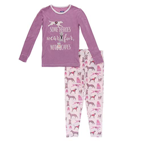 KicKee Pants Long Sleeve Piece Print Pajama Set (Macaroon Canine First Responders - 18-24 Months)