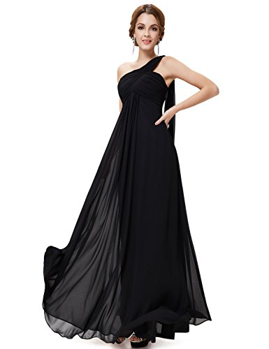 Ever-Pretty Womens Long One Shoulder Bridesmaid Dress 16 US Black