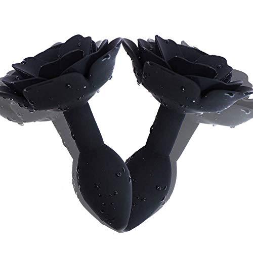 Dream-D Silicona Fitness Yoga Masaje de Espalda Flor Stick (Negro)
