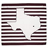 TWIG & BALE College Station Texas A&M Baby Blanket Organic Cotton Muslin Swaddle Blanket - 47' x 43' - Fans of Texas A&M Baby Gift for Boys Girls Newborn Receiving Blankets