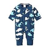Nwada Bébé garçon vêtements 9-12 Mois Enfant en Bas âge Pyjamas Tenues Printemps été vêtements Bleu Onesies Dinosaure pâques Body Pyjama
