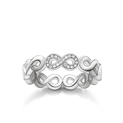 THOMAS SABO Damen-Ring Unendlichkeit Verlobungsring 925 Silber Diamant weiß Gr. 56 (17.8) - D_TR0003-725-14-56
