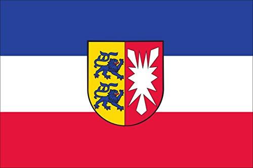 flaggenmeer® Flagge Schleswig-Holstein mit Wappen 160 g/m² ca. 100 x 150 cm