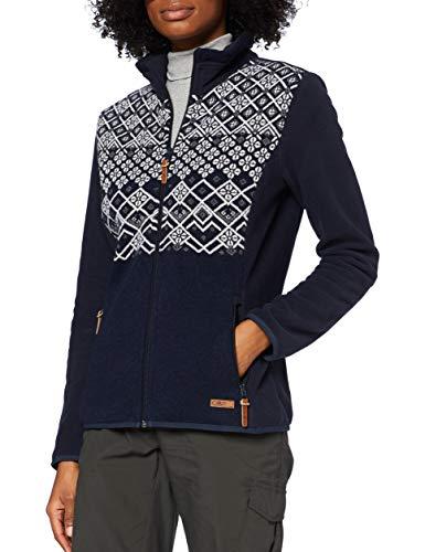 CMP – F.lli Campagnolo Damen Jacket Arctic Fleecejacke mit Wolldetails, Black Blue, D42, 30J2516