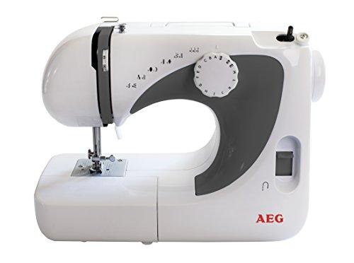 AEG Freiarmnähmaschine NM-105 Weiß, Grau