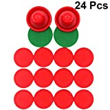 TOYANDONA 24pcs Air Hockey Accessories Paddles Handles Pushers Pucks Replacement Goal Equipment for Game...