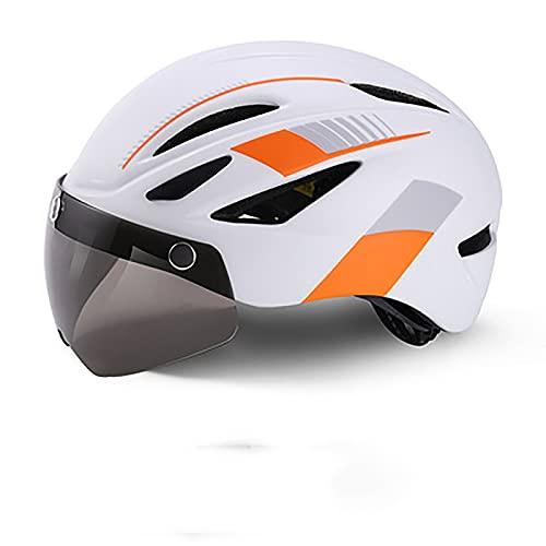Casco De Bicicleta Con Luz Trasera Recargable Por USB, Gafas Magnéticas Desmontables, Visera Solar Desmontable, Casco De Bicicleta De Montaña Y Carretera, Casco De Bicicleta Para Adultos Masculinos Y