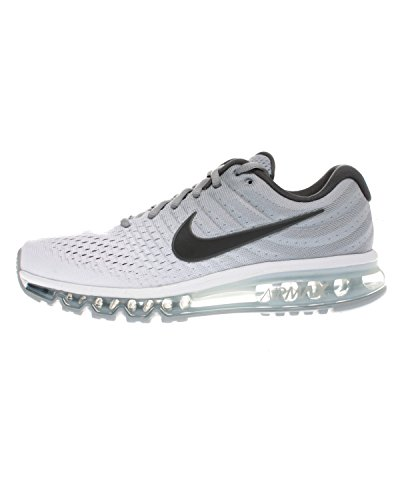Nike Men's Air Max 2017 Running Shoe (8 D(M) US, Grey/White)