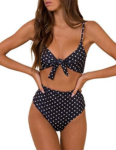 Blooming Jelly Mujer High Waist Bikinis Set De Cintura Alta Push Up Traje De Baño Dos Piezas Aundado Acolchado Ropa De Baño