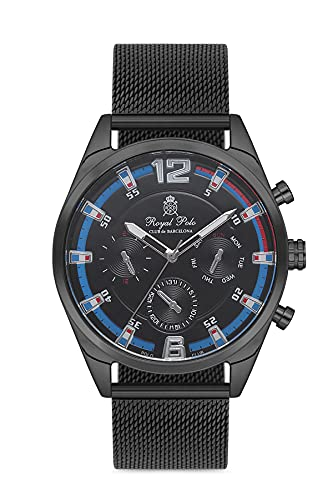 Reloj Royal Polo Club de Barcelona para hombre, color negro