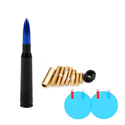 Universal Bullet Antenna Car Vehicle Replacement Antenna Compatible with Ford F150 F250 F350 Super Duty Raptor Dodge RAM 1500 2500 3500 Toyota Tundra 2000-2020 & Toyota Tacoma 1995-2015 (Blue)