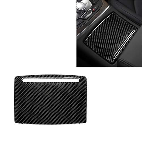 Car decorative fibre board fram Car Carbon Fiber Water Cup Holder Panel Decorative Sticker, Suitable for A6 S6 C7 A7 S7 4G8 2012-2018, Left/Right Drive Universal