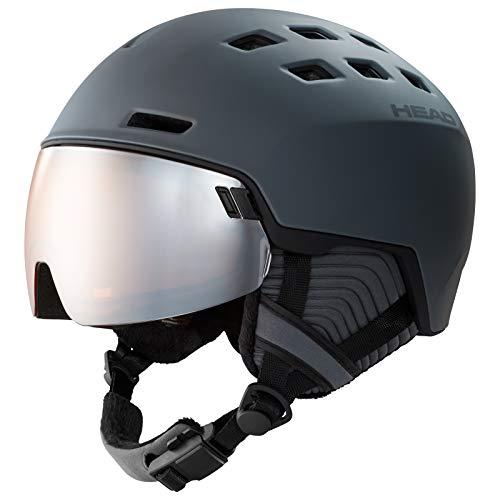 HEAD Radar, Casco da Sci e Snowboard Unisex-Adulto, Grigio, XS-S