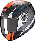 Scorpion Motorradhelm EXO-490 ROK Replica II, Schwarz/Orange, S