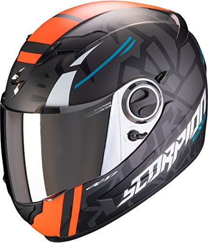 Scorpion Motorradhelm EXO-490 ROK Replica II, Schwarz/Orange, S
