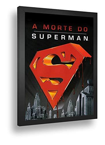 Quadro Decorativo Poste A Morte Do Superman Apocalipse