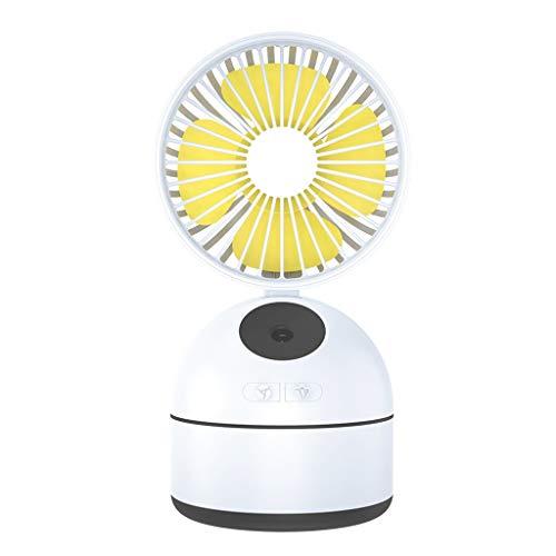 Ventilador USB,JiaMeng Mini Fan de Aerosol de Belleza para el Escritorio Energía móvil USB Humidificación Agua Dios Fan de Mesa para Hogar y Oficina o Viaje Portátil Mini Fan