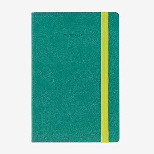 Legami MYNOT0035 BindungenNotizbuch, 12.5x 18cm gestreift 12.5 x 18 cm türkis