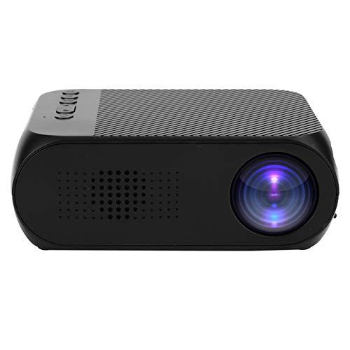 Mini proyector doméstico, proyector inalámbrico WiFi con LCD Full 1080HD 400-600 Lux 20-60 Pulgadas, Soporte 20-60 AV/USB/Micro Memory Card/HDMI para hogar/Oficina/Exterior/Juego(Negro)