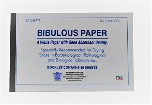 Bibulous Paper, 4' x 6', 50 Sheets per Book, Pack/10 Books (500 Sheets)