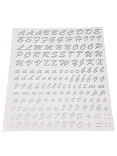4R Quattroerre.it Kit Lettres Adhésives, Gris Argenté