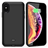 ALCLAP iPhone X/XS Battery Case with Qi Wireless Charging, 3000mAh Portable Charger Case Extend…