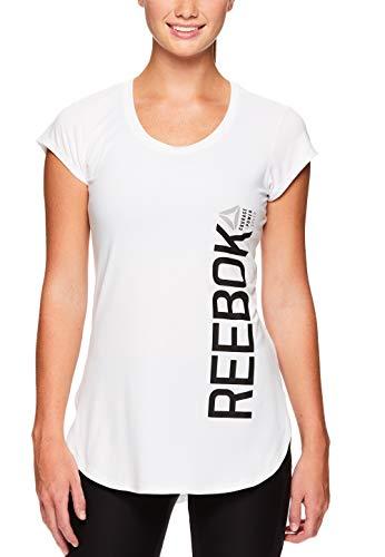 Reebok Women's Legend Performance Top Short Sleeve T-Shirt - Stark White, Extra Small