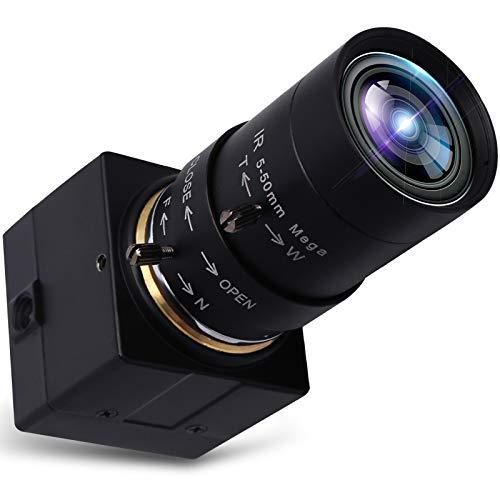 Svpro USB Webcam 5-50mm Varifokalobjektiv 8.0 Megapixel High Definition Web Kamera 3264x2448 Industrie USB Kamera 1/3.2'' IMX179 Sensor, USB2.0 Mini Kamera mit UVC HD 8MP Kamera Unterstützung OTG