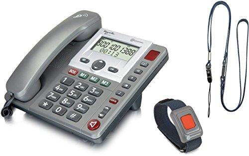 amplicomms PowerTel 97 Alarm Identificatore di chiamata Grigio, Argento