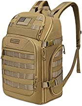 MOSISO 30L Tactical Backpack, Military Daypack 3 Day Assault Molle Rucksack Bag, Khaki