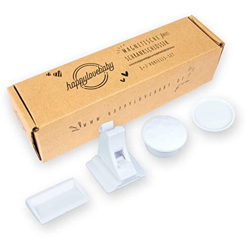 Happylovebaby Kindersicherung Schrank - unsichtbares Magnetschloss ohne Bohren - Schranksicherung Baby 8er Pack