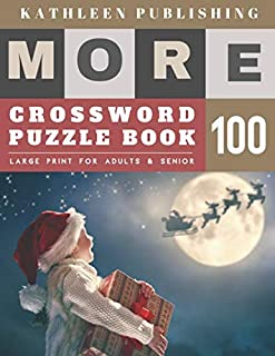 Large Crossword puzzles for Seniors: weekend crossword puzzle books for adults   More Large Print   Hours of brain-boosting entertainment for adults ... for senior citizens (crossword books quick)