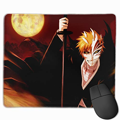 Bleach Ichigo Anime Mouse Pad with Stitched Edges for Office,Home Computer Games,Non-Slip Rubber Base 11.8'' X 9.8''x0.12''(3mm Thick)
