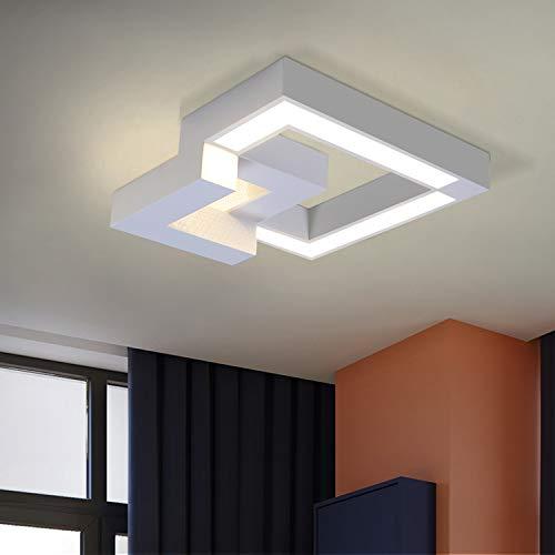ZMH plafoniera a led da soffitto - plafoniera moderna bianco 40cm lampada dimmerabile con il telecomando: striscia led 3000k-6000k luce bianco caldo e bianco neutro e bianco freddo
