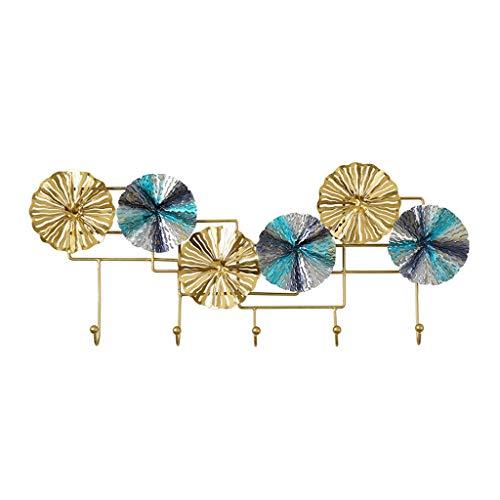 Jixi Perchero para abrigos, soporte creativo de metal, para colgar en la pared, para colgar bufanda, llaves, gancho, decoración de dormitorio, regalo creativo (color 5 ganchos)