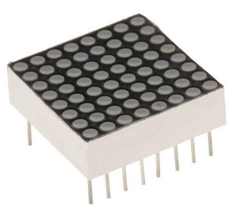 B2Q 8x8 Mini Dot Matrix LED 788BS 20x20mm rot (0027)