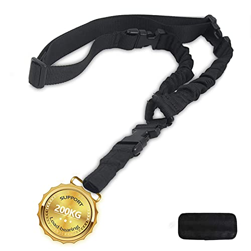 DMAIP Tactical Adjustable Climbing Rope for Outdoor Sports Black