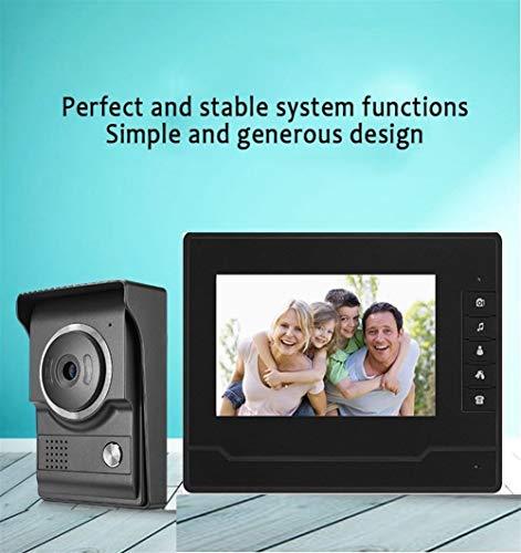 MISDD Telefonillo Portero De vídeo en Color de Alta definición de 7 Pulgadas de intercomunicación Puerta Pantalla de Alta definición Visual (Color : Doorbell)
