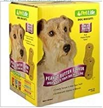 Pet Life Large Peanut Butter Biscuits For Dogs, 4-Pound