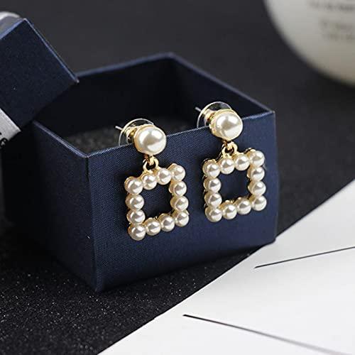 Orecchini A Clip con Geometria alla Moda Senza Piercing Orecchini con Perle Senza Foro per Le Donne Regalo di Gioielli di Moda Senza Confezione Regalo