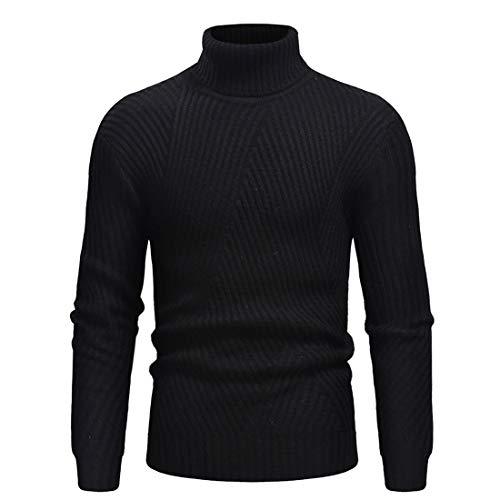 Lfly Maglione Uomo Casual Tinta Unita Stand Collo Lavorato Maglione Elegante Invernale Comodi Soft Stretch Pullover Primavera Autunno Maglietta Casual T Shirts Tops XL