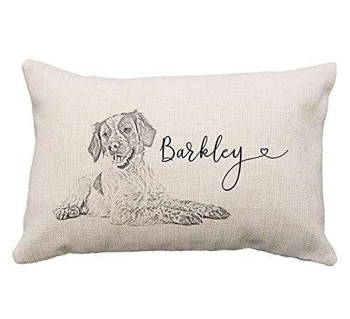FloradeSweet Funda de almohada personalizada para perro Braque Francais, regalo para amante de perros, regalos para Braque Francais, regalos para los amantes de los perros