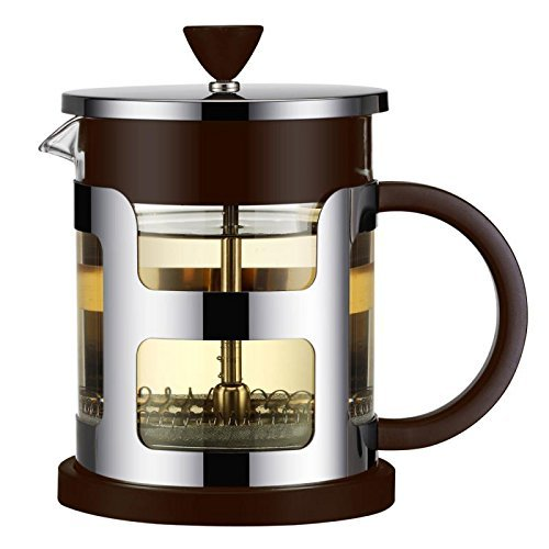 STAR-NET French Coffee Press 8 Cup (1 liter, 21 oz),Interwoven filter,Stainless Steel,Heat Resistant Borosilicate Glass, Best for Hot or Cold Brew,Tea or Espresso