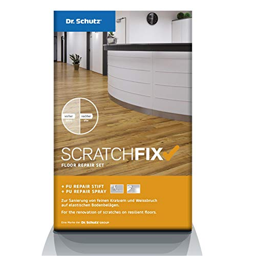 Dr. Schutz 0601000450 Scratch Fix PU Reparatur-Set für Vinyl-Bodenbeläge, Designboden, PVC und Linoleum zur Kratzerentfernung, Reparaturset