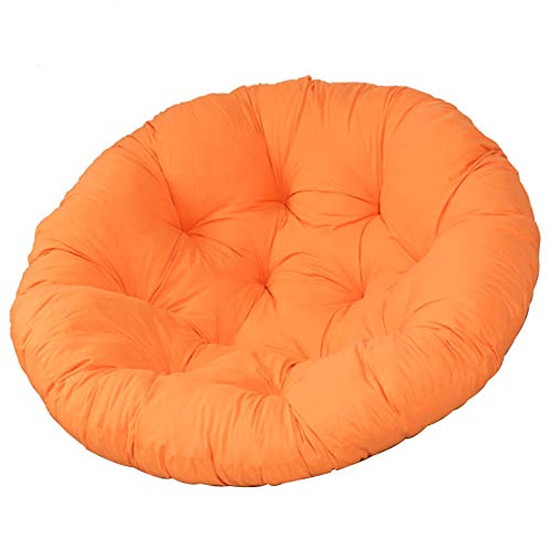 WMTFCBE Outdoor Patio Hanging Egg Chair Cover with Zipper Dust Protector Papasan Overstuffed Chair Cushion Seat Pads Hammocks Swing Pad Round for Indoor Outdoor Yoga Living Room Sofa Balcony,Orange